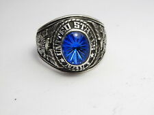 STERLING SILVER 925 , RING , USA , USN , US NAVY ring , us SIZE: 11.25 ,  id96