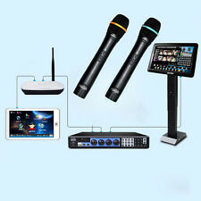 "KARAOKE Machine Jukebox 3TB HD +Wired Microphones +19"" IR Touch Screen+Touch Pad"