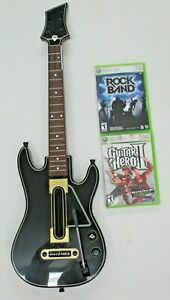 Activision Guitar Hero Wireless Guitar Xbox 360 w/Rock Band & Guitar Hero II