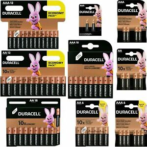 DURACELL Plus Power AA AAA C D 9V Alkaline Batteries LR3 LR6 Fresh Stock
