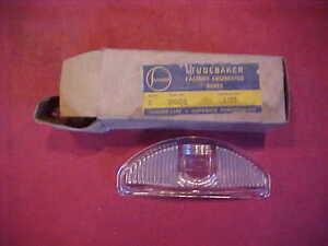 NOS GENUINE 295930 Studebaker 1952 52 Glass Parking Light Lamp Lens COMMANDER