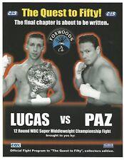 VINNY PAZ VS ERIC LUCAS ON SITE BOXING PROGRAM