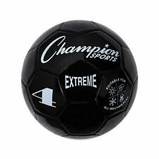 Champion Sports Extreme Soft Touch Butyl Bladder Soccer Game Ball, Size 4, Black