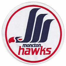 "1987-93 MONCTON HAWKS AHL HOCKEY MINORS 8 1/2"" JERSEY PATCH"