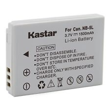 1x Kastar Battery for Canon NB-5L PowerShot SD850 IS SD870 IS SD880 IS SD890 IS