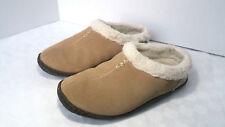 Sorel Nakiska Women Sz 7 Suede Slippers British Tan- Fair