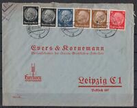 Deutsches Reich, MiNr. 512 - 514 + 519 MiF Berlin-Charlottenburg 01.11.1939