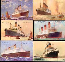 6 Original WSL Postcards - OLYMPIC, MAJESTIC, HOMERIC- NAUTIQUES sHiPs WORLDWIDE