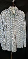 Orvis Mens Long Sleeve Button Front Multicolor Plaid Check Shirt  Size L