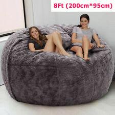 8ft(200*95cm) Giant Fur Bean Bag Bed Cover Bean Bag Chair Soft Bean Bag Cover