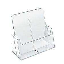 """Count of 2 New Retails Clear Letter Sized Brochure Holder 9.25""""W x 3.25""""D x 10""""H"""