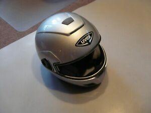 Motorradhelm Klapphelm  Uvex GT 370  Neu silber Gr L  ohne Visier