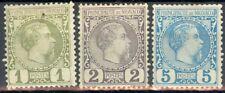 Monaco, timbres N° 1 à 3 neufs avec trace de charnière, TB