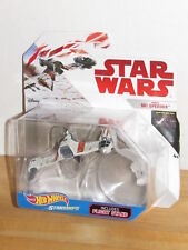 Star Wars The Last Jedi Hot Wheels Starships Poe's Ski Speeder MOC MOSC in hand