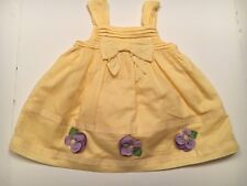 New... Gymboree yellow baby dress with diaper cover size 3 - 6 months
