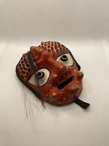 Vintage Korean Mask Hand Made Original Demond Evil Mask