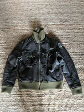 Firetrap Brown Leather Bomber Jacket M