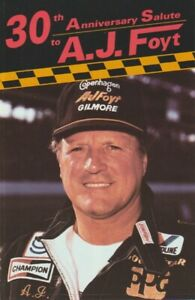 """1987 A.J. Foyt PPG """"30th Anniversary Salute"""" Indy 500 Indy Car Fold-out Brochure"""