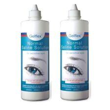 2 X Gelflex Contact Lens Solution Preserved Saline 500ml for Sensitive Eyes