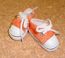 Doll Shoes, 47mm ORANGE Sneakers - Bitty Bethany, Ann Estelle