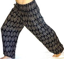 Sarouel Femme Pantalon Ethnique Aladin Harem Pant Aladdin noir gris black grey