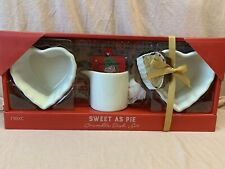 Next Sweet As Pie Crumble Dish Set Heart Ramekin Custard Jug Gift Cream Ceramic
