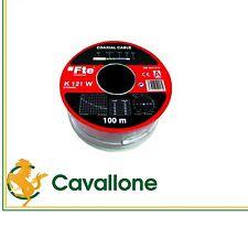 CAVO ANTENNA FTE COASSIALE 5MM TERR. E SAT. PVC BIANCO MATASSA 100MT COD. K121W