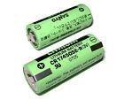 One Sanyo Battery 3V 2200mAh CR17450SE-R 4/5A w/tabs PLC Backup Power Green