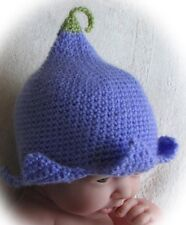 CROCHET PATTERN (INSTRUCTIONS) FOR BLUEBELL HAT BABY/TODDLER MULTISIZE ref 1b