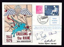 Great Britain #Mh32/#B1 Operation Varsity Special Parachute Deliv Cvr 1975 Signd