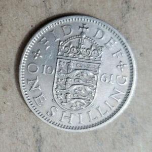 Great Britain Shilling, 1961 copper-nickel coin, English shield, KM# 904