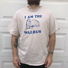 vintage i am the walrus Illustration t-shirt L Large warn in Loved tee