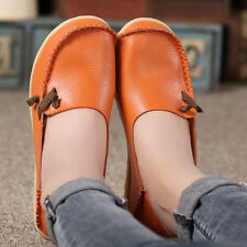 Women's Casual Loafers Driving Peas Moccasin Leather Flats Shoes Single shoes