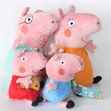 4Pcs Peppa Pig Family Plush Doll Stuffed Toy 30Cm DADDY MOMMY 19Cm PEPPA GEORGE