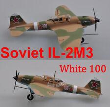 """Easy Model 1/72 Soviet IL-2M3 """"White 100"""" Plast Fighter Model #36411"""
