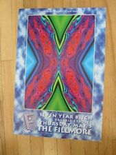 X  Seven Year Bitch Fillmore poster