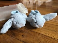 Jellycat Bashful Blue Bunny Baby Booties, 0-6 months