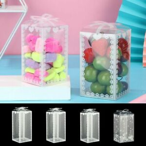 DIY Wedding Disposable Gift Box Candy Packing Transparent Cookies Boxes