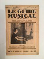 Le Guide du Musical supplément mensuel au Guide du concert Renée Nizan n°1 1928