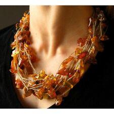 Bernsteinhalskette Bernsteincollier Bernsteinkette Bernstein Amber necklace