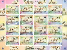 1998 WWF REPUBLIQUE DU NIGER WILD ANIMALS GAZELLA 16 STAMP MNH SHEETLET