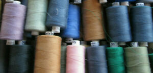Mixed  Lot 120s Coats Epic/Polyfil Polyester Cotton Thread - part used 1000m