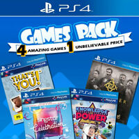 PS4 Games Bundle Sony Playstation 4 Game Thats You Singstar Knowledge is Power