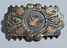 Victorian Hallmarked Silver Sweetheart Brooch - Depicting a Bird