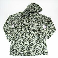 Obey Propaganda Sienna Jacket Size Small Khaki Leopard Spell Out