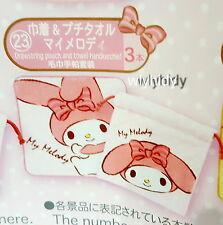 Sanrio My Melody Drawstring Pouch & Towel Handkerchief  Lottery Prize   h#4ok