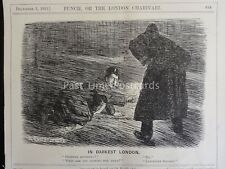 WW1 1915 IN DARKEST LONDON LOOKING FOR LEICESTER SQ Punch Cartoon 1st December
