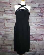 JONES NEW YORK black beaded evening cocktail party dress size 14