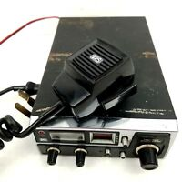 CB Radio Realistic TRC-422 Transceiver 40-Channel Vintage Black with Microphone