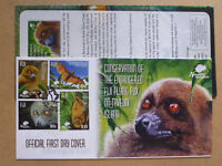 2015 FIJI ENDANGERED SPECIES FLYING FOX 4 STAMPS FIRST DAY COVER FDC